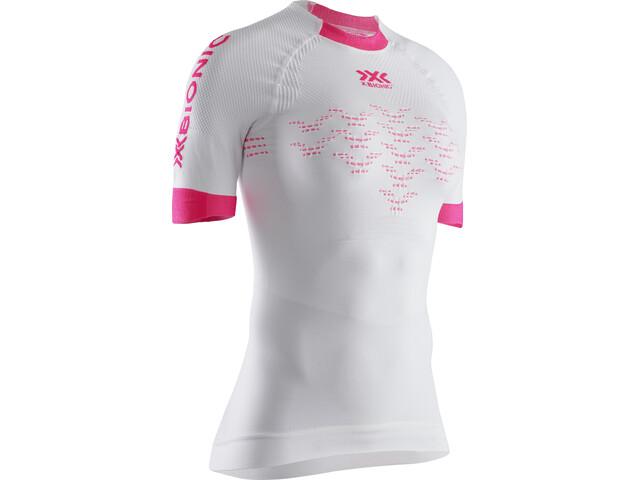 X-Bionic The Trick 4.0 Camiseta Running Manga Corta Mujer, blanco/rosa